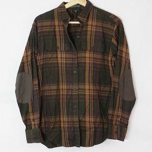 Lauren Ralph Lauren Button Down Plaid Shirt Small
